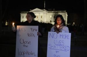 Veglia davanti Casa Bianca