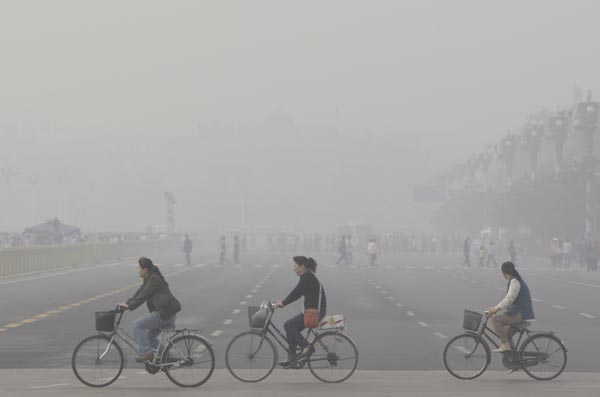 Inquinamento Pechino vacanza
