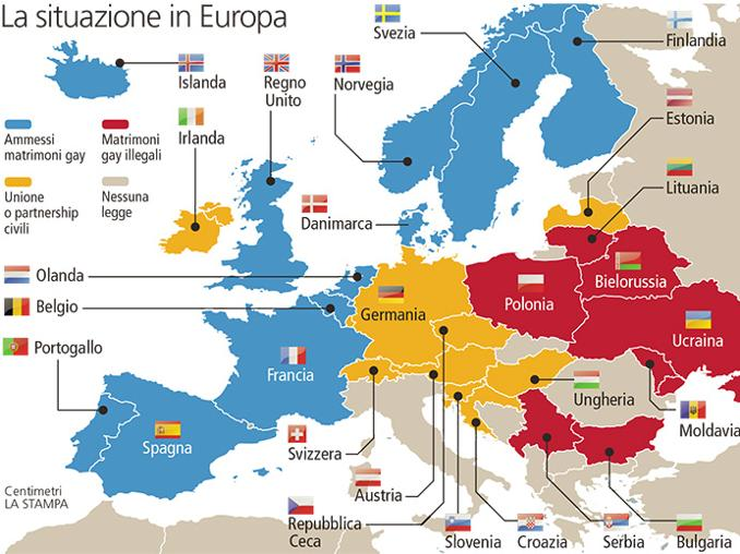 Irlanda ed Europa in tema di unioni civili
