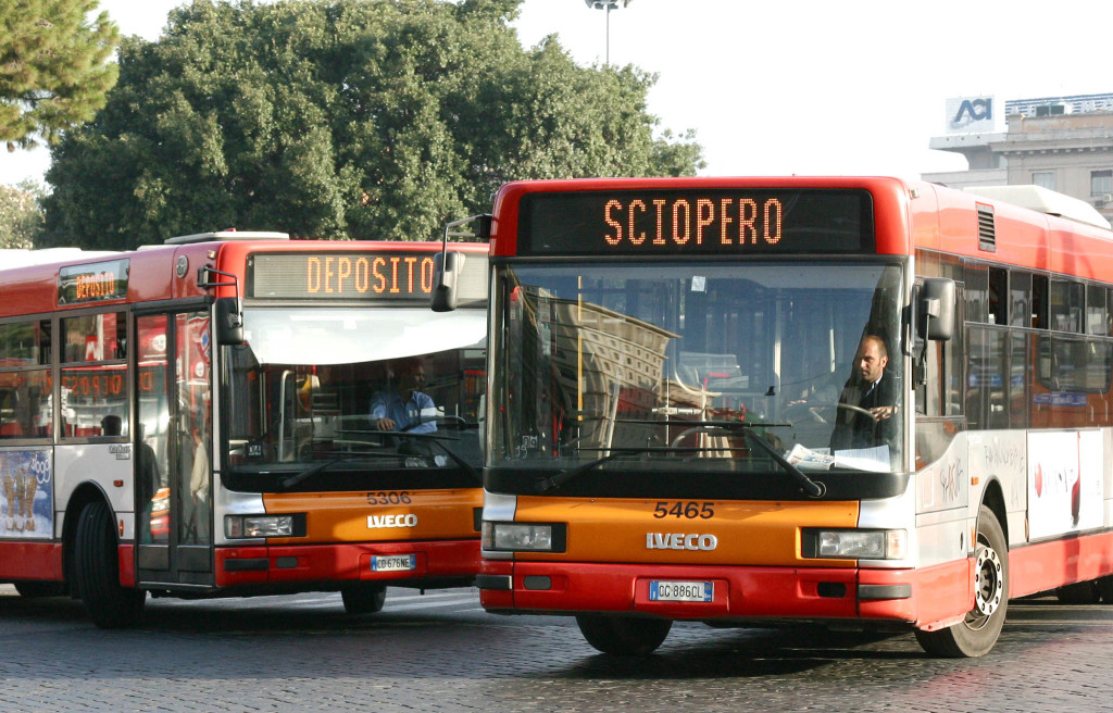 Roma e Milano sciopero mezzi
