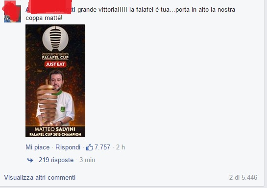 Matteo Salvini Falafel Cup 1