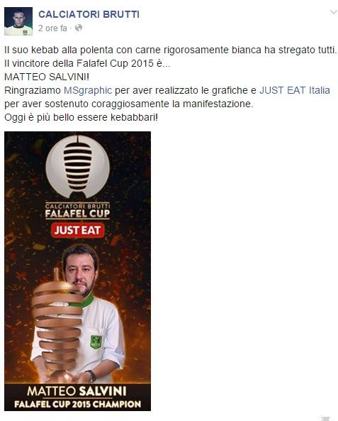 Matteo Salvini Falafel Cup 2