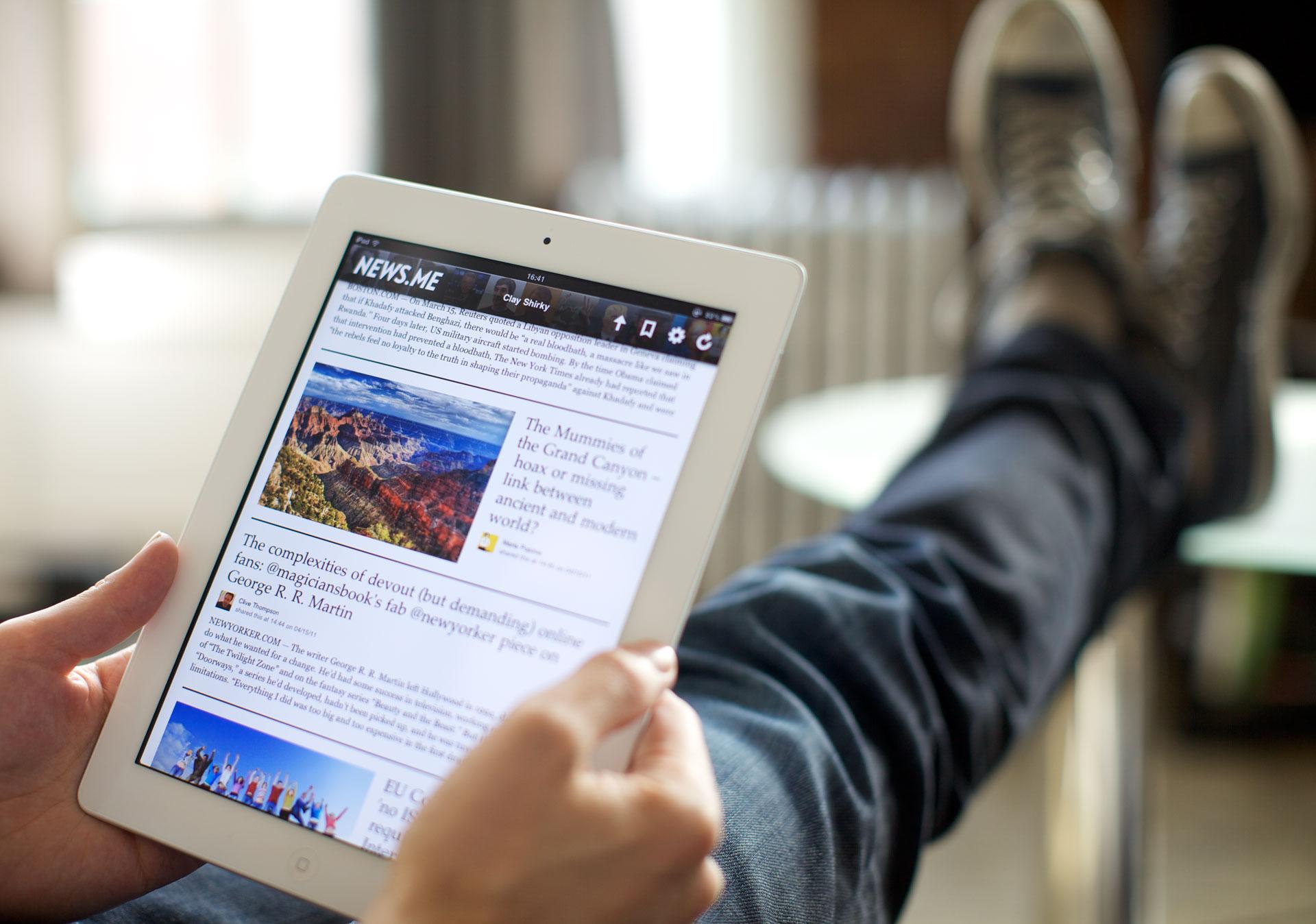 News smartphone tablet