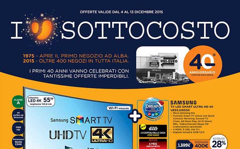 Volantino unieuro dicembre 2015 sconti e promozioni con for Volantino acqua e sapone novembre 2017