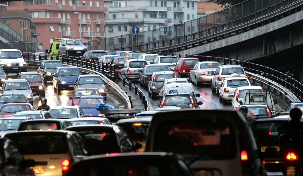 blocco traffico napoli