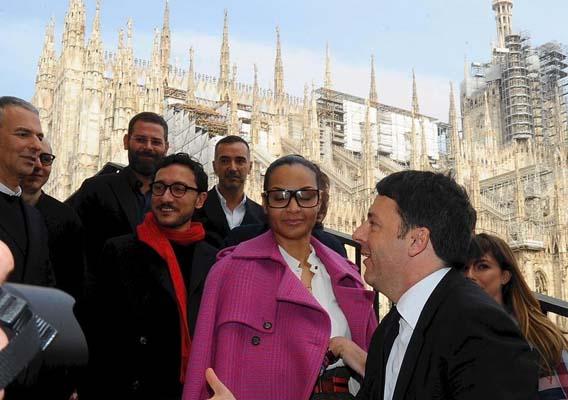 inaugurazione settimana moda Milano