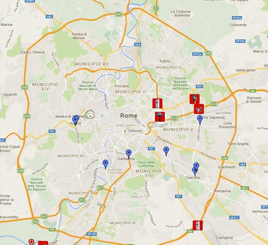 Cartina Roma Est.Autovelox Roma 2016 Mappa E Lista Nuovi Elenco Punti Fissi E