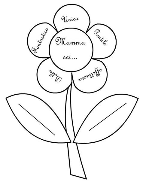 Immagini auguri festa della mamma 2016 disegni per for Immagini di fiori facili da disegnare