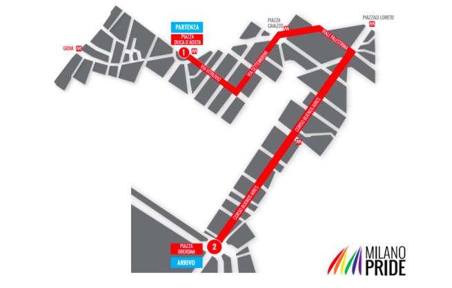 percorso Milano Pride