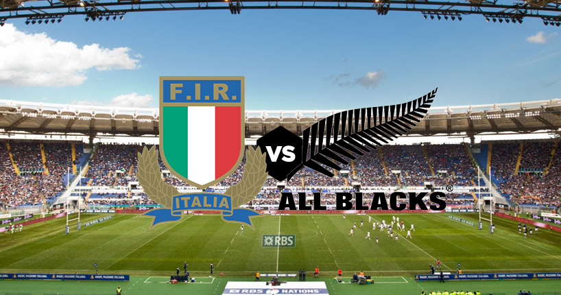Rugby Italia All Blacks Nuova Zelanda Roma 2016 Stadio