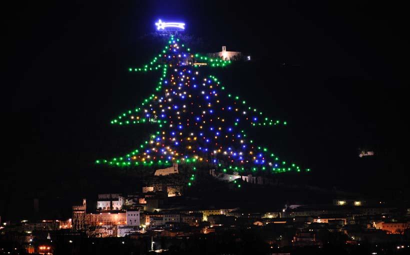 Risultati immagini per albero di natale di Gubbio