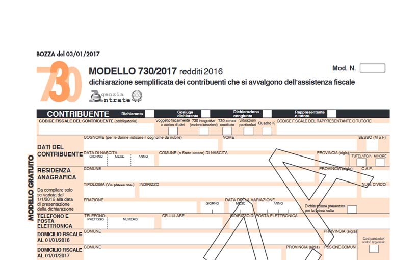 modello 730 2017 data scadenza e istruzioni su come