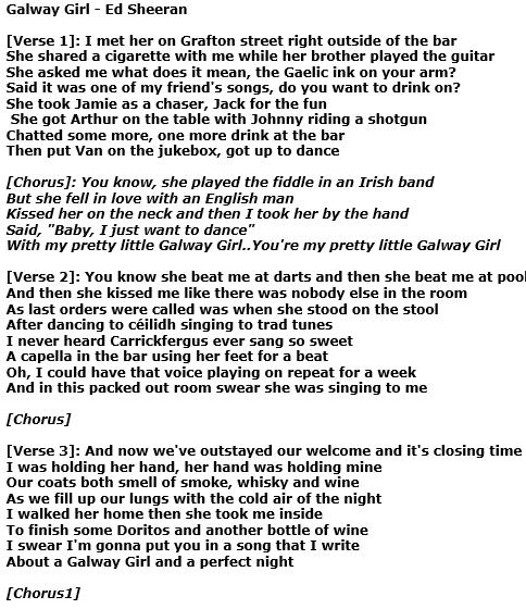Galway Girl Di Ed Sheeran Traduzione Testo E Video Del Nuovo Singolo Estratto Dall Album Divide Corretta Informazione