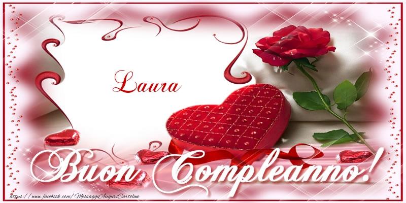 spesso Buon Compleanno Laura: frasi e immagini di auguri per una persona  WP81