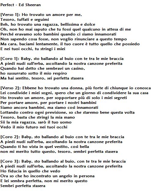 Perfect Di Ed Sheeran Traduzione Testo E Significato Di Una Splendida Dichiarazione D Amore Corretta Informazione