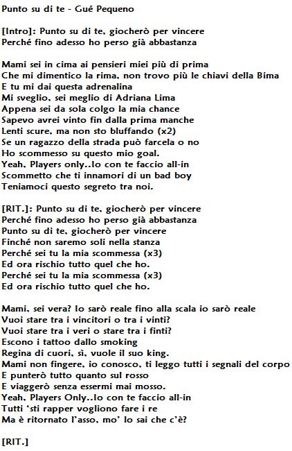 Amato Punto su di te di Gué Pequeno, testo e significato: per il rapper  TI24