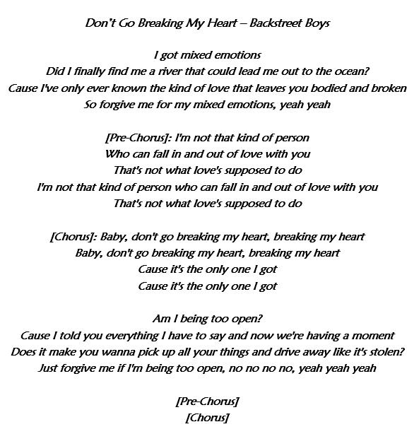 Don't Go Breaking My Heart dei Backstreet Boys: testo, traduzione e significato del nuovo singolo